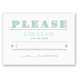 Wedding Response Cards: Friendship & Love Response Card