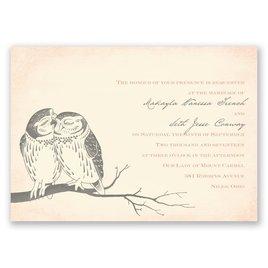 Owl Be Yours - Ecru - Invitation
