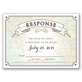 Taking Flight - Rose Gold - Foil Response Card