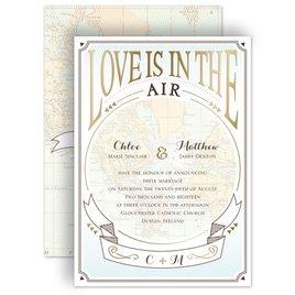 Wedding Invitations: Taking Flight - Foil Invitation