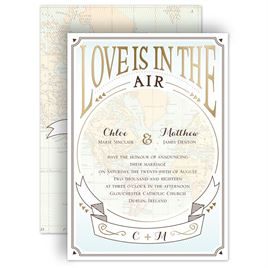 Nautical Wedding Invitations: Taking Flight - Foil Invitation