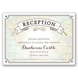 Wedding Reception and Information Cards: Taking Flight - Foil Reception Card