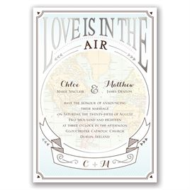 Taking Flight - Silver - Foil Invitation