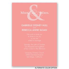 Contemporary Couple - Mrs. and Mrs. - Invitation