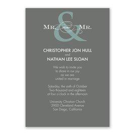 Contemporary Couple - Mr. and Mr. - Invitation