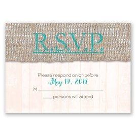 Wedding Response Cards: Burlap Band Response Card