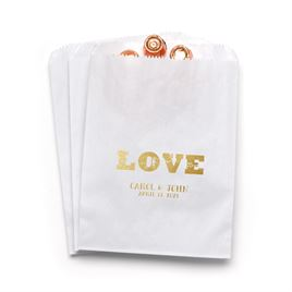 Rustic Love - White - Favor Bags