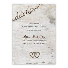 Wedding Reception and Information Cards: Love for Infinity Reception Card