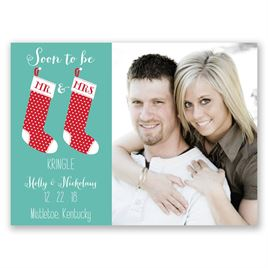 Holiday Save the Dates: New Stockings Holiday Card Save the Date