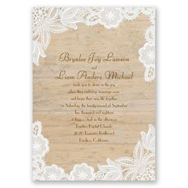 Wood and Lace Invitation