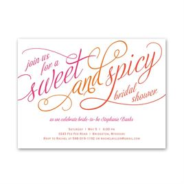 Sweet and Spicy - Petite Bridal Shower Invitation