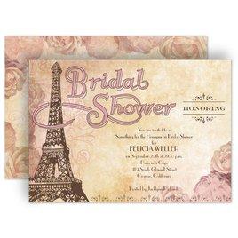 Watercolor Shower Invitations: Eiffel Tower Bridal Shower Invitation