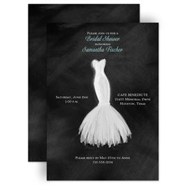 Watercolor Shower Invitations: Wedding Fashion Bridal Shower Invitation