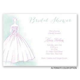 Princess Gown - Bridal Shower Invitation
