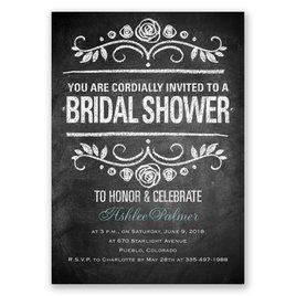 Chalkboard Art - Bridal Shower Invitation