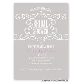 Fab Flourish - Bridal Shower Invitation