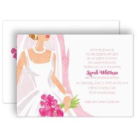 Bridal Shower Invitations: Beautiful Bride Bridal Shower Invitation