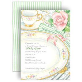 Watercolor Shower Invitations: Sheer Elegance Bridal Shower Invitation