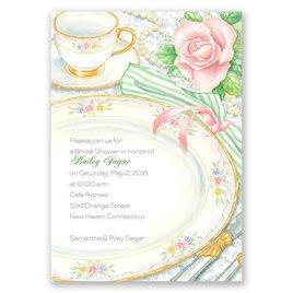 Sheer Elegance - Bridal Shower Invitation
