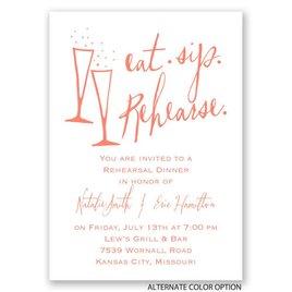 Eat, Sip, Rehearse - Mini Rehearsal Dinner Invitation