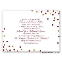 Confetti Fun - Mini Rehearsal Dinner Invitation