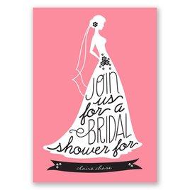 Chic Typography - Bridal Shower Invitation