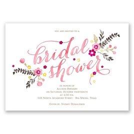 Heart and Whimsy - Melon - Bridal Shower Invitation