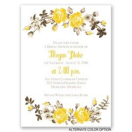Floral Beauty - Petite Bridal Shower Invitation
