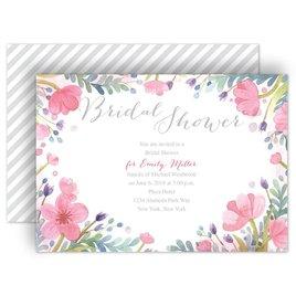 Watercolor Shower Invitations: Pastel Floral Bridal Shower Invitation