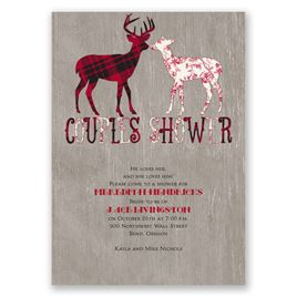 Buck and Doe - Wedding Shower Invitation