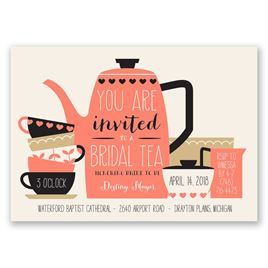 Bridal Tea - Bridal Shower Invitation