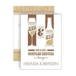 Bridal Shower Invitations: Drinks All Around Petite Wedding Shower Invitation
