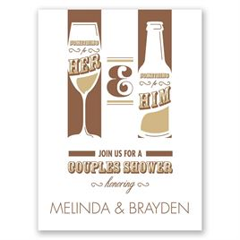 Drinks All Around - Petite Wedding Shower Invitation