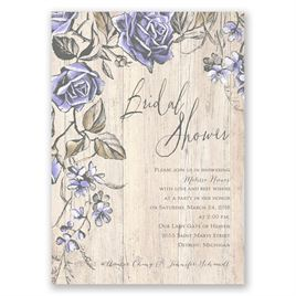Rustic Rose - Bridal Shower Invitation