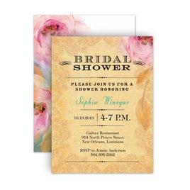 Watercolor Shower Invitations: Watercolor Beauty Petite Bridal Shower Invitation