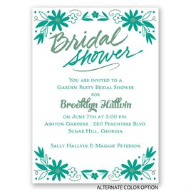 Floral Splash - Mini Bridal Shower Invitation