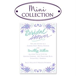 Bridal Shower Invitations: Floral Splash Mini Bridal Shower Invitation