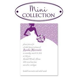 Bridal Shower Invitations: All Style Mini Bridal Shower Invitation
