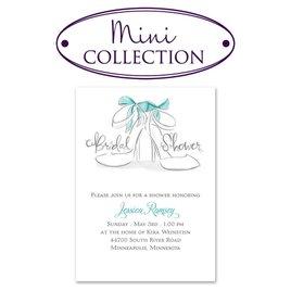 Bridal Shower Invitations: Wedding Shoes Mini Bridal Shower Invitation