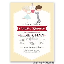 Cute Couple - Petite Wedding Shower Invitation
