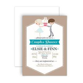 Bridal Shower Invitations: Cute Couple Petite Wedding Shower Invitation