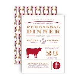 "Rehearsal Dinner Invitations: Chef""s Choice Beef Petite Rehearsal Dinner Invitation"