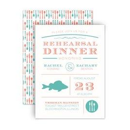 "Rehearsal Dinner Invitations: Chef""s Choice Fish Petite Rehearsal Dinner Invitation"