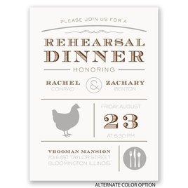 "Chef""s Choice - Chicken - Petite Rehearsal Dinner Invitation"