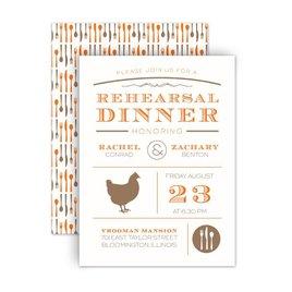 "Rehearsal Dinner Invitations: Chef""s Choice Chicken Petite Rehearsal Dinner Invitation"