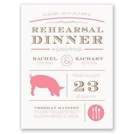 "Chef""s Choice - Pork - Petite Rehearsal Dinner Invitation"