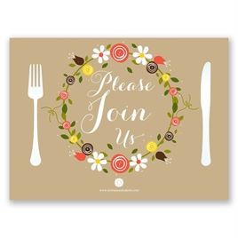 Sweet Florals - Petite Rehearsal Dinner Invitation
