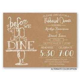 On Display - Petite Rehearsal Dinner Invitation