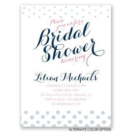 Polka Dot Fade - Petite Bridal Shower Invitation