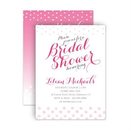 Bridal Shower Invitations: Polka Dot Fade Petite Bridal Shower Invitation